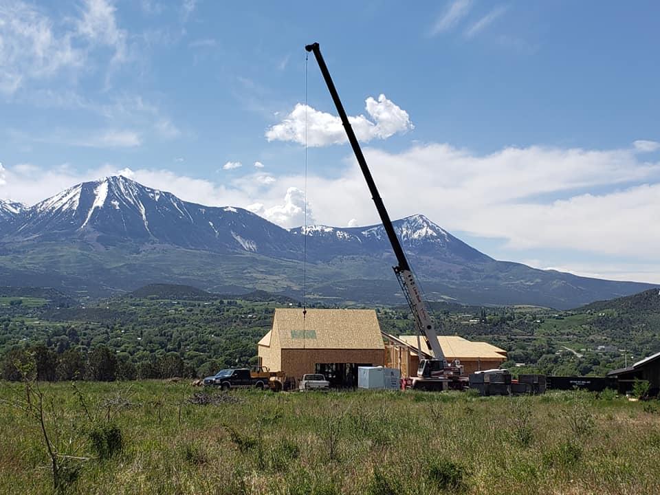 Paonia CO Crane Job Site