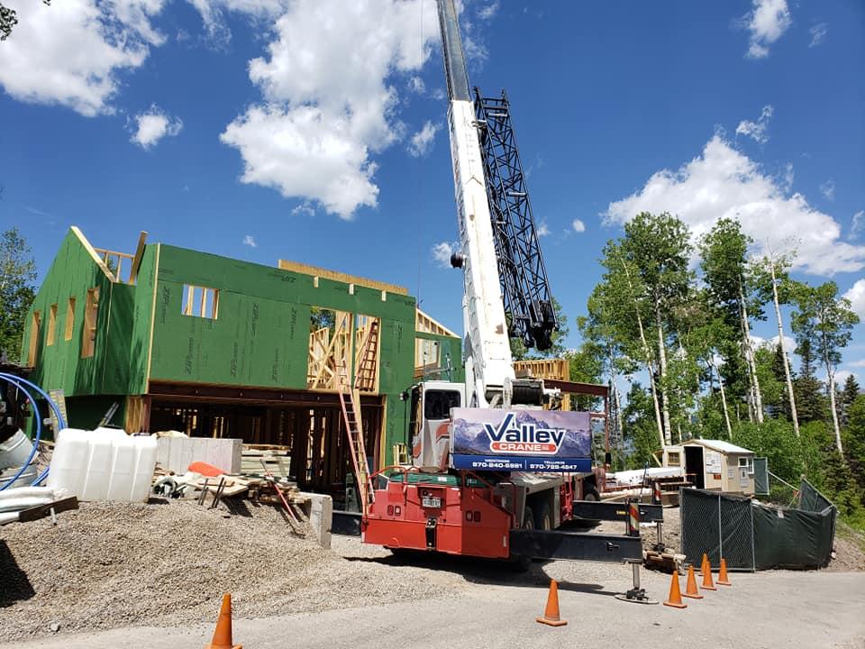 Crane Service Job Site in Telluride CO