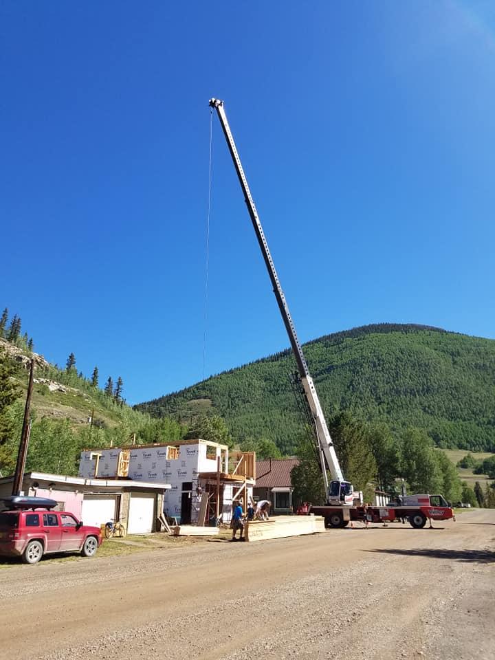 Crane Service for New Home Build