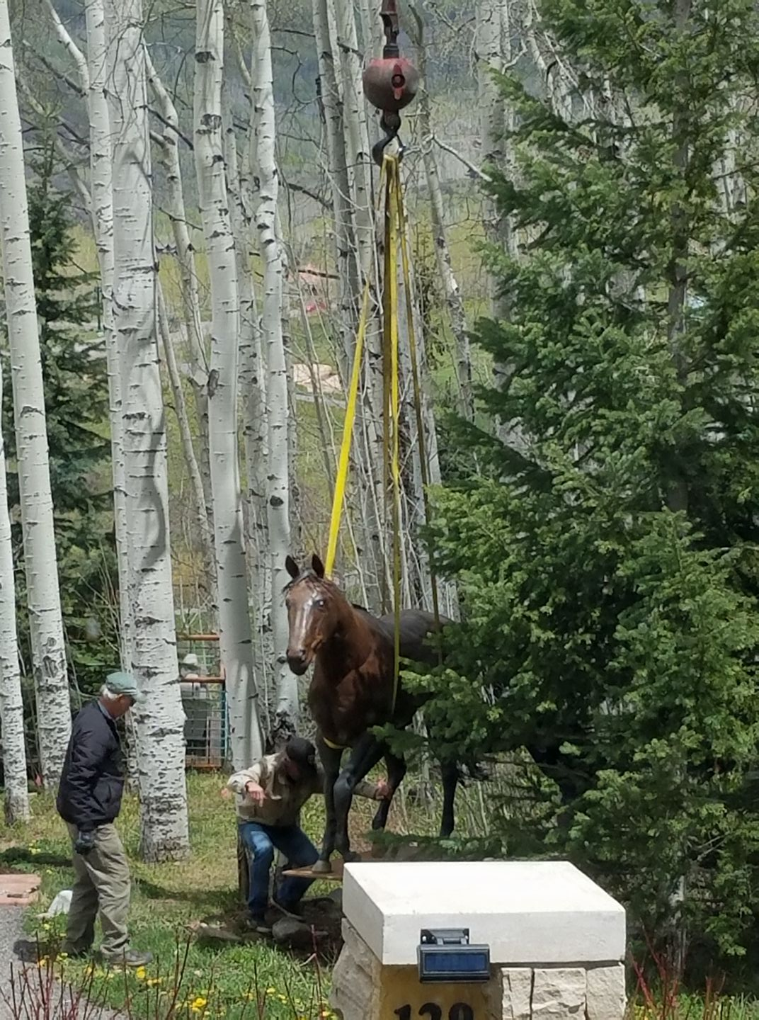 Placing Statues in Telluride CO