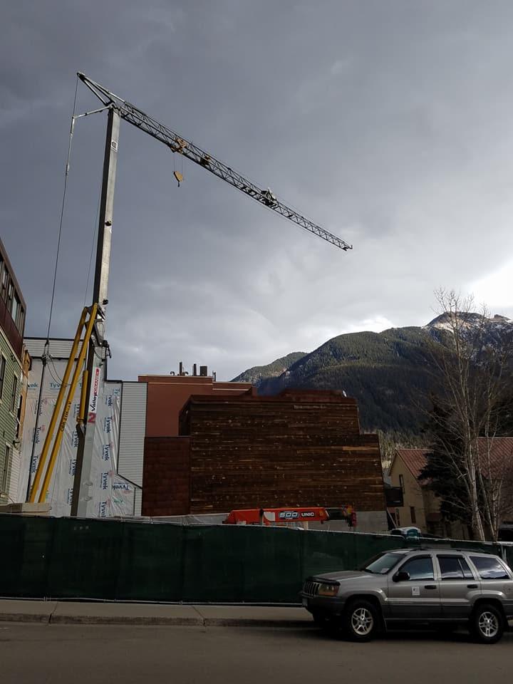 Tower Crane Working in Telluride CO